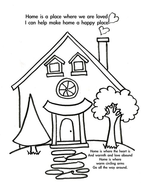 home coloring pages coloring home