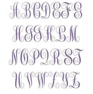 Fancy Curly Monogram Font