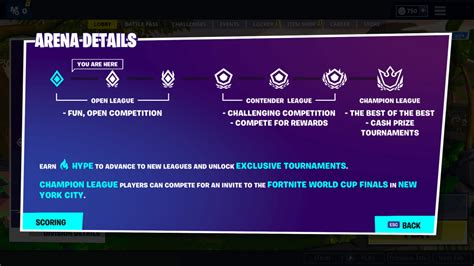 fortnites arena mode guide divisions leagues hype