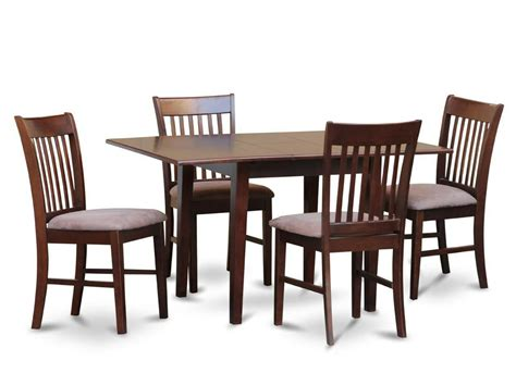Kitchen Table 4 Chairs by 5pc Rectangular Dinette Kitchen Table W 4 Microfiber