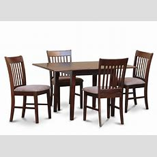 5pc Rectangular Dinette Kitchen Table W 4 Microfiber