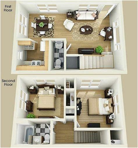 denah rumah minimalis  lantai  kamar tidur  desain
