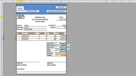como hacer una factura automatica  macros en excel