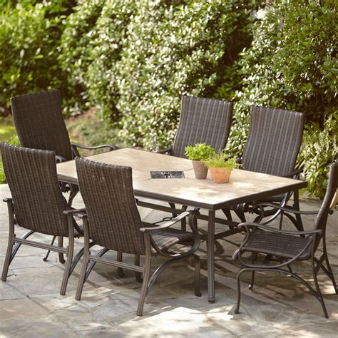 home depot garden table hton bay pembrey 7 piece patio dining set hd14214 the
