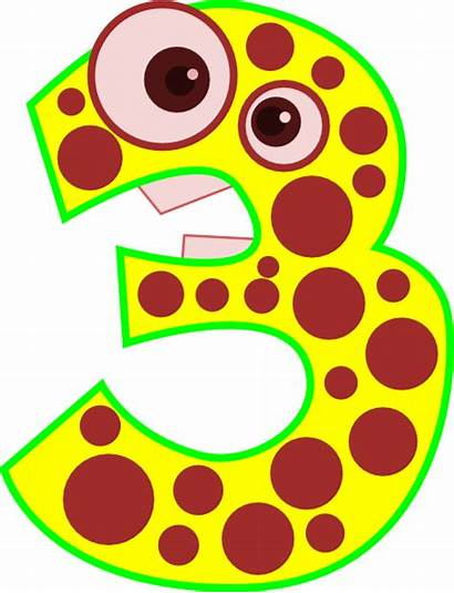 Number Clipart Animal Clip Three Edited Cliparts