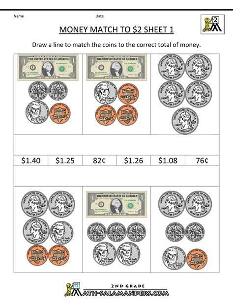 money worksheets for 2nd grade free printable money