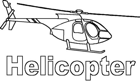 coloring helicopter picture