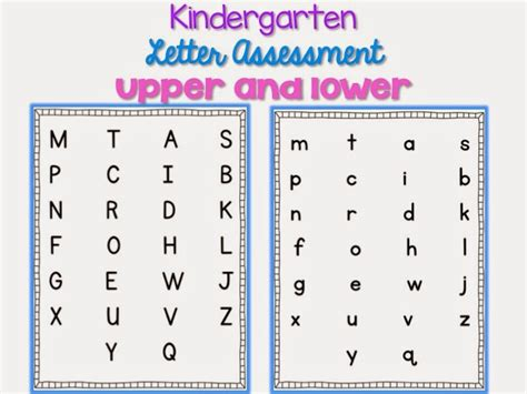 Capital And Lowercase Letter Assessment Pages  Classroom Management  Pinterest Kindergarten