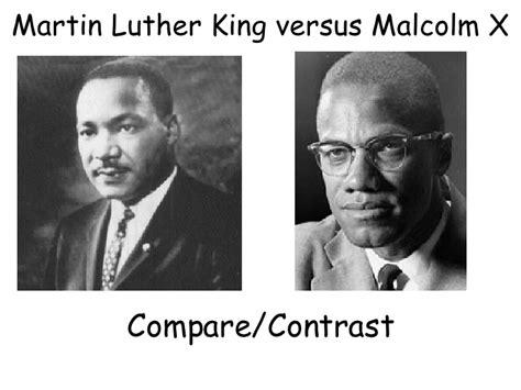 M L King Vs Malcolm X