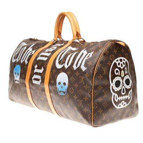 travel bag louis vuitton keepall  customized