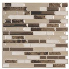 smart tiles 6 pack white beige brown glossy composite