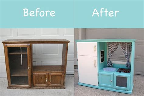 tv cabinet made into play kitchen turn an cabinet into a kid s kitchen county 9497