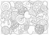 Coloring Candy Adult Lollipop Lecca Della Caramella Adulte Illustrazione Adulta Vector Kleurende Volwassen Het Lucette Sucrerie Coloration Coloritura Pagina Colorare sketch template