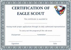 scout certificates template12 free printables in word With eagle scout certificate template