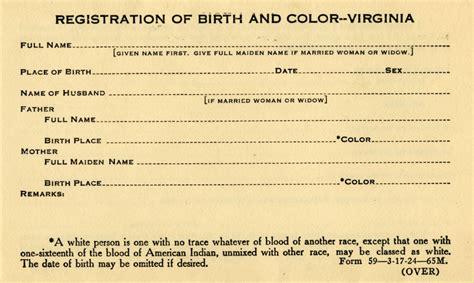 virginia vital statistics form education from lva walter ashby plecker