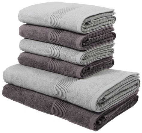 Handtuch Set Grau by Handtuch Set My Home 187 171 Mit Gestreifter