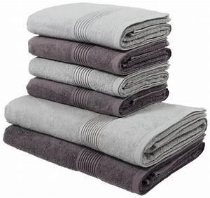 Handtücher Set Grau : handtuch set my home anna mit gestreifter strukturbord re online kaufen otto ~ Indierocktalk.com Haus und Dekorationen