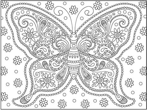 pin  butterfly coloring pages