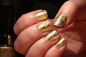 Glamorous golden nail art designs for young girls about
