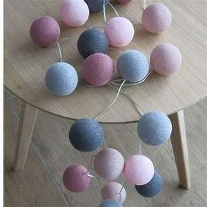 Cotton Balls Lichterkette : cotton ball lights 20 er lichterkette rosa altrosa grau b lle led kugeln ebay ~ Frokenaadalensverden.com Haus und Dekorationen