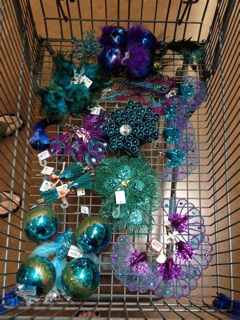 peacock decor  walmart peacock christmas pinterest