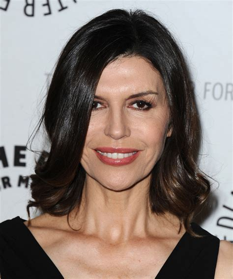 Finola Hughes Medium Straight Formal Hairstyle   Dark