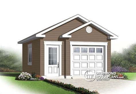 Garage Plan W2992-16, Small Garage Plan For 1 Car. Cute