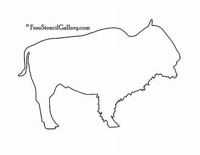 Buffalo Stencil Silhouette Clipart Wood Bison Stencils