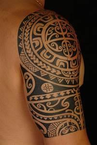 Mens Tattoos » Tribal Shoulder Tattoos For Men