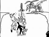 Looney Tunes Cliff Coloring Pages Wecoloringpage sketch template