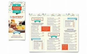 family restaurant take out brochure template design With publisher menu templates free