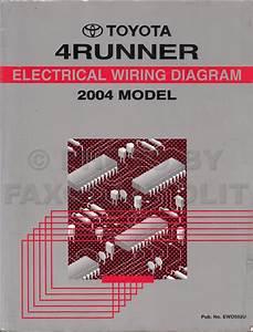 2004 Toyota 4runner Wiring Diagram Manual Original
