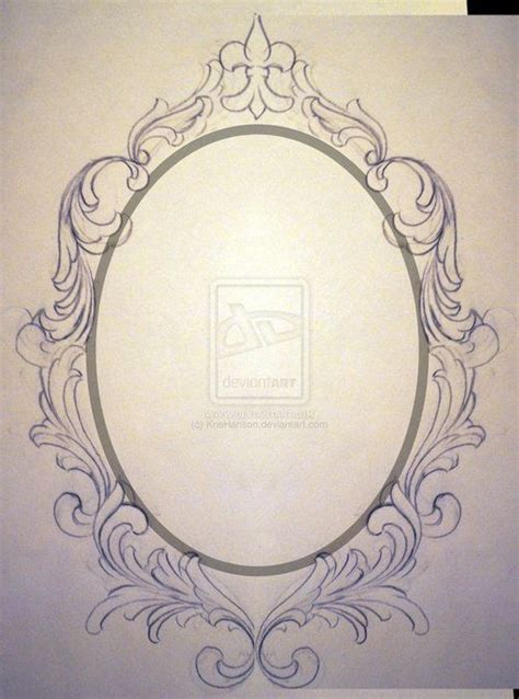 drawing oval frame google search framed tattoo mirror