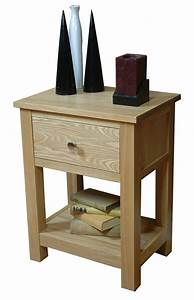 Mobel Oak One Drawer Lamp Table