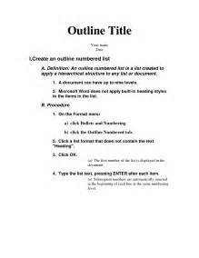 PowerPoint Presentation Outline Example