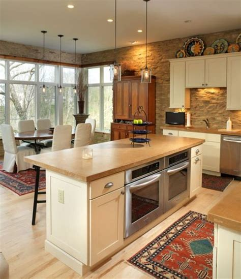 kitchen island with stove and oven 6 of the most popular oven arrangements for the kitchen