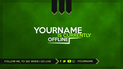 Twitch Offline Banner Template Size by Twitch Offline Banner Template Shatterlion Info