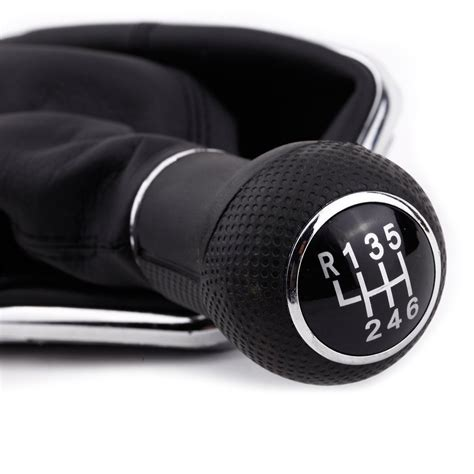 shift knobs 6 speed 6 speed gear shift knob gaitor boot black pu leather for
