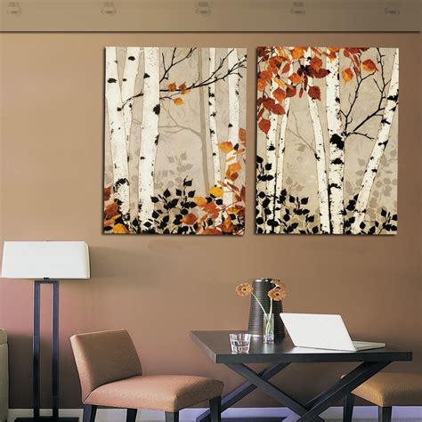 home decor wall modern home decor abstract tree painting birch trees