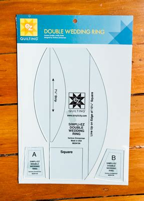 Double Wedding Ring Template Set  Material Obsession