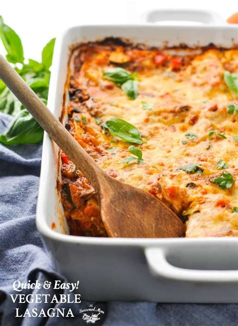 Quick And Easy Vegetable Lasagna  The Seasoned Mom
