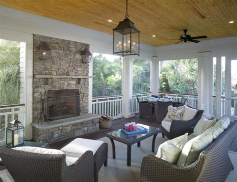 screened porch with fireplace screened porch features outdoor fireplace traditional