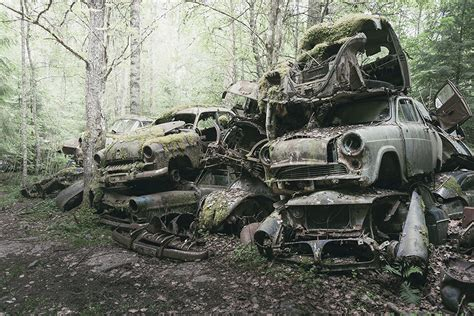 Eerie Pictures Reveal Desolate Classic Car Graveyard Being
