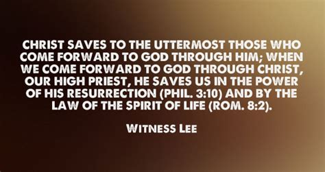 Come Forward To God To Be Saved To The Uttermost