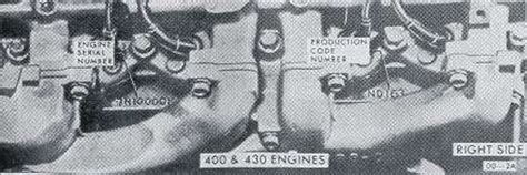 Buick Engine Identificatoin Where Find The Numbers