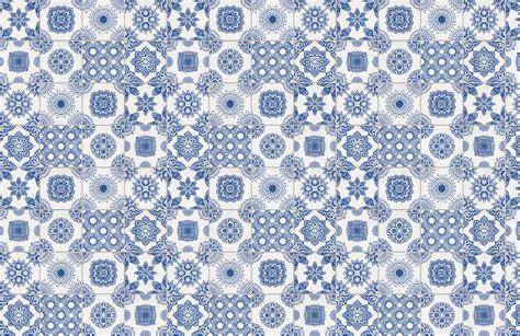 moroccan design tiles white and blue portuguese tiled wallpaper murals wallpaper