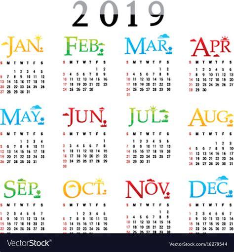 calendar planner happy year royalty vector