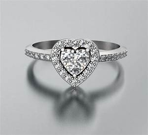 heart shape diamond engagement ring unique bridal rings With wedding rings heart diamond