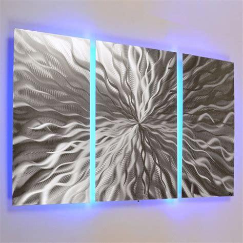 led light wall decor modern abstract metal wall color changing led lighting