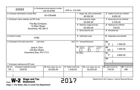 employer w 2 form printable understanding your tax forms 2017 form w 2 wage and tax